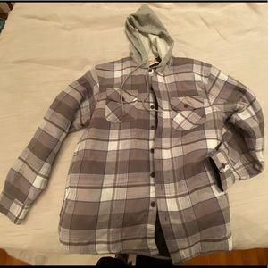 Wrangler hooded flannel (insulated). Men's medium.